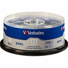 M DISC VERBATIM BDXL 100GB 4X Branded Logo 25 pk Spindle 98914