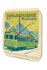 Travel Wall Clock Kitchen Decoration  Melbourne Australia Tram Acrylglass
