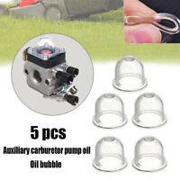 5PCS Homelite Echo Stihl Ryobi Poulan Zama Primer Bulb Pump Gas Fuel Cup Bulb