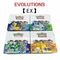 324pcs Pokemon EVOLUTION English EX WITH FLASH CARD TCG Booster Toy Gift Random