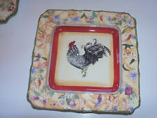 American Atelier Rooster 16 PIECE DINNERWARE SET 4 bowls,sauser,4 plates, 4 cup