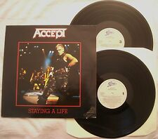 ACCEPT - STAYING A LIFE - ANNO 1990 - EPIC 467592 - 2 LP - EX++