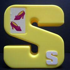 "Tyco SESAME STREET shoes alphabet letter S (3"") REPLACEMENT plastic block"