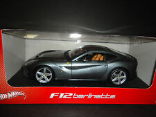 Hot Wheels Ferrari F12 Berlinetta Grey BCJ74 1/18