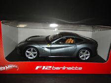 Hot Wheels Ferrari F12 BERLINETTA Gris BCJ74 1/18