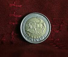2009 South Africa 5 Rand Bi Metallic World Coin Suid Afrika Wildebeest SARB