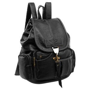 Women Girls Vintage Leather Backpack School Travel Rucksack Shoulder Bag Purse