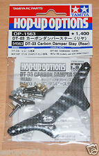 TAMIYA 54563 DT-03 CARBON DAMPER STAY (posteriore) (DT03/DT03T), Nuovo con imballo