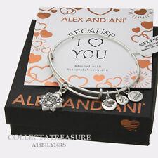 Authentic Alex and Ani Friend(iii)  Rafaelian Silver ExpandableCharm Bangle new*