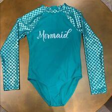 Mermaid Swimsuit Long sleeved Girls Large NWT