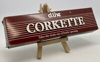 Vintage Retro CORKETTE Wine CORK EXTRACTOR by d.line, Made in England 1960s-70s