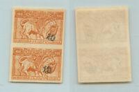 Armenia 1922 SC 367a mint imperf black pair . rtb2505
