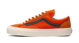 Vans Og Style 36 Lx (Suede/Canvas) Men's Size 13 Shoes Orange/Red VN0A4BVEZH