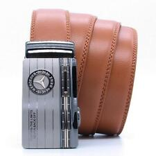 Luxury Mens Leather Belt Waistband Strap With Stylish Automatic Buckle Benz
