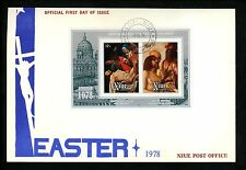 Postal History Niue FDC #220a Easter religion art painting Jesus 1978