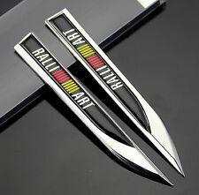 2pcs 3D Dolch RALLI / ART Auto Aufkleber Embleme Fenders Schriftzug Metall für