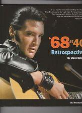 Elvis Presley 68 at 40 Retrospective Hard Cover Book by Steve Binder w/Photo