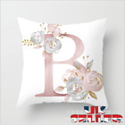 New A-z Letter Polyester Cushion Cover Pillow Case Waist Throw Home Sofa Decor