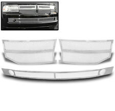 07-14 LINCOLN NAVIGATOR FRONT UPPER+LOWER CHROME STAINLESS MESH GRILLE COMBO SET