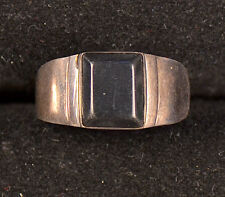 Sterling Silver (.925) Ring W/ Square Black Onyx