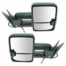 Exterior Manual LED Spotlight Smoke Turn Signal Towing Mirror Pair for GM Truck
