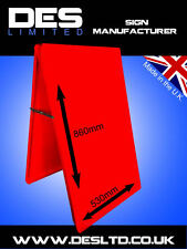 Budget PO Red Steel Metal A Board Pavement Menu Sandwich Advert  Sign Cheap