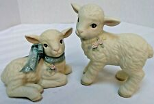 Two Little Lambs Porcelain Figurines 5.5 inch