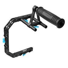 FOTGA DP3000 C Shape Camera Cage Bracket + Top Handle Grip for 15mm Rod DSLR Rig