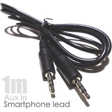 1 M 3.5 mm estéreo AUX IN Cable Lead iPhone iPad Cable de enlace coche MP3 Muelle Plomo Hi-fi