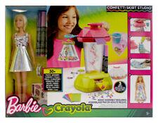 Mattel FRP02 Barbie loves Crayola Konfettirock-Studio mit Barbie Puppe