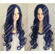 New cosplay Corpse Bride Tim Burton's Corpse Bride Blue long lady curly hair Wig