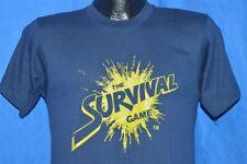 New listing vintage 80s The Survival Game Paintball Splatmaster Dark Blue 50/50 t-shirt S