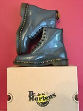 Dr Martens 1460 Unisex Grey Patent Leather Boots Size Uk 8 BRAND NEW WITH BOX