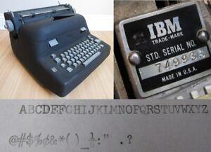 RARE ibm TYPEWRITER electric retro vintage antique MODEL A 1951 back gray IBM!