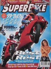 Super Bike magazine 11/2002 featuring Agusta, Ducatti