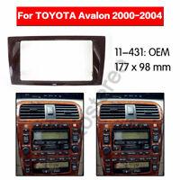 Double din Car audio Radio fascia Facia Panel Adapte for TOYOTA Avalon 2000-2004