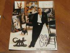 Tony Curtis Autographed Photo JSA Certified