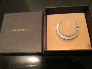 BVLGARI key ring, 925 sterling silver, large, loved, with box, authentic