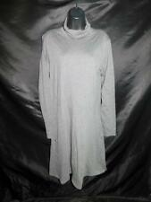 Toad & Co L Gray Turtleneck Dress Cotton Knit Long Sleeve Knee Work or Casual Lg