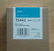 10/2010 Epson Genuine 220ml Ink T5442 (Cyan) Stylus Pro 4000/4400/9600