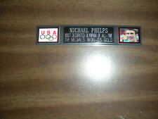 MICHAEL PHELPS NAMEPLATE FOR SIGNED PHOTO/POSTER