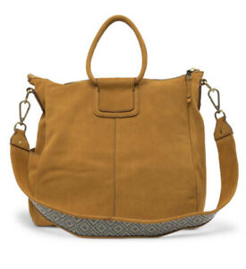 "NWT Hobo Intl ""Sheila"" Suede Golden Harvest Carryon Bag Purse  $385"