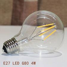 Edison LED COB Filament Bulb E27 ES Vintage Industrial Light Lamp G80 Globe 4W