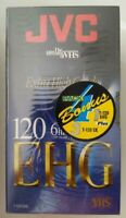 4 Pack JVC VHS SX High Performance 120 6 hrs T-120SX Sealed Blank Tapes + Bonus