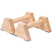 1 Pair Calisthenics Handstand Bar Wooden Fitness Exercise Tools Training Ge A2U3