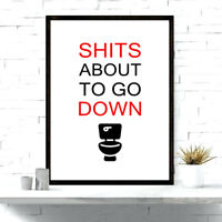 Bathroom Prints | Funny Bathroom Wall Art | Toilet Humour Pictures | WordArt