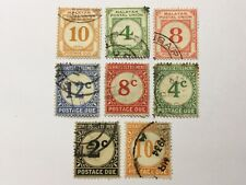 old stamps  STRAITS SETTLEMENTS/MALAYA    x  8  postage due