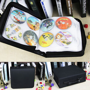 320 Sleeve CD DVD Blu Ray Disc Carry Case Holder Bag Wallet Storage Ring Binder