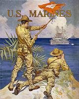 Thomas Jefferson Battles the Barbary Pirates War Art Repro Prints Select Size