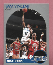 Sam Vincent 1990-91 Hoops #223 with Michael Jordan wearing #12 Jersey